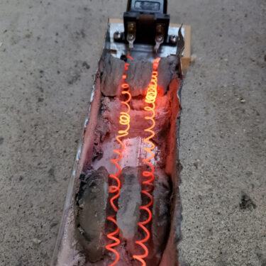 ニクロム線を使ってオーブンを製作。バンブーロッドの火入れ方式を変更